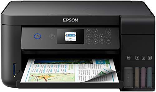 Epson EcoTank ET-2751 3-in-1-Multifunktionsgerät, beidseitiger Druck, Scan, Kopieren, A4, A5, A6, B5, C6, DL, 3,7 cm LCD-Display, WLAN, Schwarz