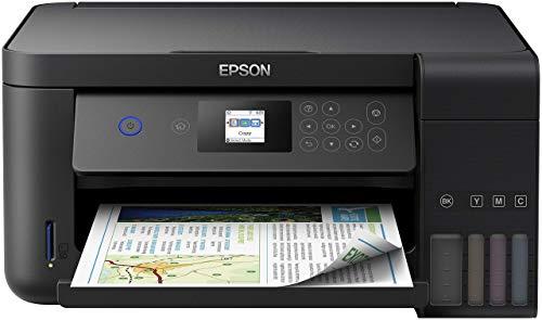 Epson EcoTank ET-2750 3-in-1 Tintenstrahl Multifunktionsgerät (Kopierer, Scanner, Drucker, DIN A4, Duplex, WiFi, Display, USB 2.0), großer Tintentank, hohe Reichweite, niedrige Seitenkosten, schwarz