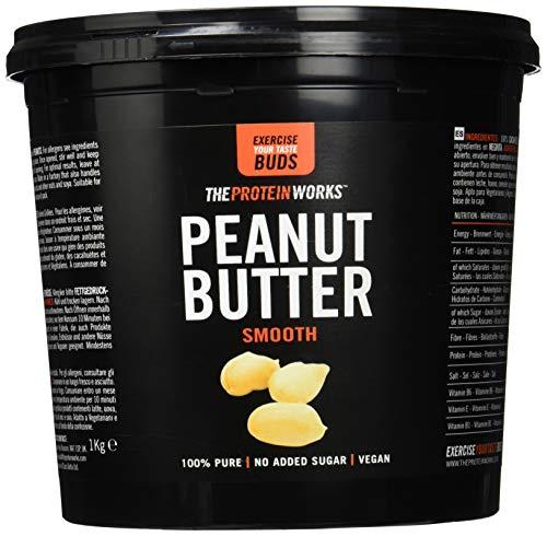 Erdnussbutter | 100% Natürlich Geröstete Erdnussbutter | Vegan | THE PROTEIN WORKS | Smooth | 1kg