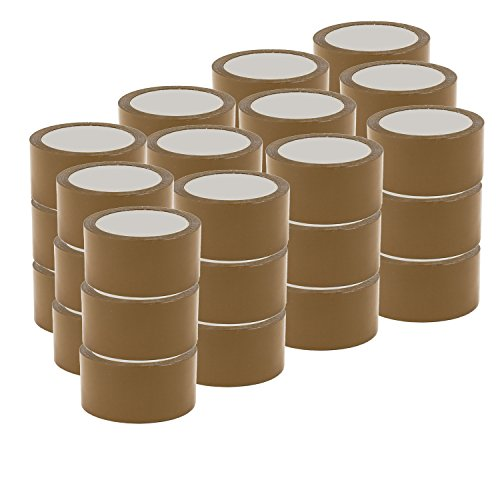 36x Rollen Klebeband leise abrollend 66m lang x 48mm Packband Paketband Braun Havana LOW NOISE Premium Qualität